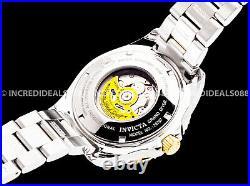 Invicta Men GRAND PRO DIVER AUTOMATIC Charcoal Dial Blue Bezel Gold Silver Watch