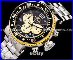 Invicta Men GRAND PRO DIVER COMBAT SEAL Chronograph Gold Black Silver 52MM Watch