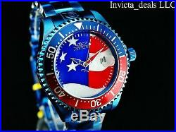 Invicta Men Grand Diver 300m Automatic Star And Stripes Dial BLUE LABEL SS Watch