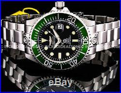 Invicta Men Grand Pro Diver Automatic Green Black Bezel Dial Silver 47mm Watch