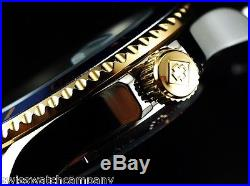 Invicta Men Original PRO DIVER SUBMARINER Coin Bezel Automatic Gd 2Tone SS Watch