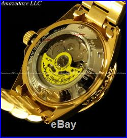 Invicta Men Pro Diver 24 Jewel Automatic NH35A 18K Gold Plate SS Champagne Watch