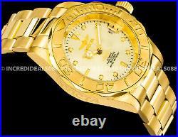 Invicta Men Pro Diver Automatic Champagne Dial 18Kt Gold Bracelet 40mm Watch