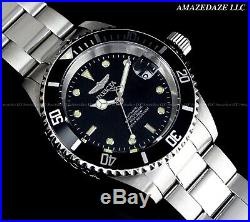 Invicta Men Pro Diver Coin Edge 24J Auto NH35A Stainless Steel BLACK DIAL Watch