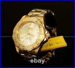 Invicta Men Pro Diver NH35 Automatic 24 Jewel 18K Gold Plated S. S Bracelet Watch