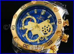 Invicta Men Pro Diver Scuba 3.0 Chrono 18K Gold Plated 2 ToneBlue Dial S. S Watch