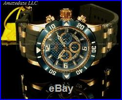Invicta Men Pro Diver Scuba 3.0 Chrono 18K Rose Gold Plated Stainless St Watch