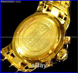 Invicta Men Pro Diver Scuba Chrono 18KT Gold Plated Stainless St Green Dial Watc