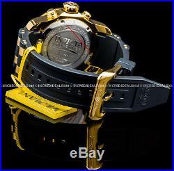 Invicta Men Pro Diver Scuba Chronograph 18Kt Gold & Rose Gold Black Strap Watch