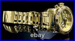 Invicta Men Pro Diver Scuba Chronograph Champagne Dial 18K Gold Reloj Watch