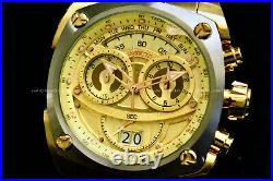 Invicta Men RESERVE 48MM CHAMPAGNE Dial SWISS MOVEMENT18 K Gold Plated S. S Watch