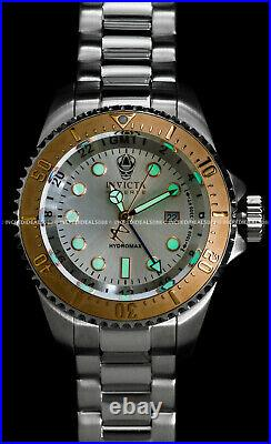 Invicta Men RESERVE SKULL HYDROMAX SWISS GMT Rose Gold Silver Dial 52mm Watch