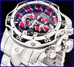 Invicta Men RESERVE VENOM KING COBRA SWISS MVT Chronograph Silver 1000M WR Watch