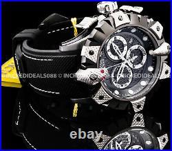 Invicta Men RESERVE VIPER VENOM Swiss Chronograph Silver Black Strap SS Watch