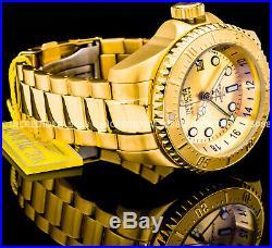 Invicta Men Reserve Pro Diver Hydromax Skull Swiss Mvt GMT 18K Gold 52mm Watch