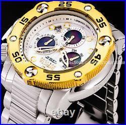 Invicta Men Reserve SEA HUNTER PROPELLER SWISS MVT Chronograph Gold Silver Watch