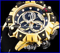 Invicta Men Reserve Viper Venom Swiss Chronograph 18K Gold Black Strap SS Watch