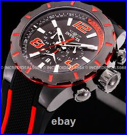 Invicta Men S1 RALLY TURBO CHRONOGRAPH Black Red Polyurethane Strap 53mm Watch
