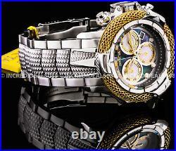 Invicta Men SUBAQUA POSEIDON Swiss Chronograph MOP Dial SILVER GOLD 55 mm Watch