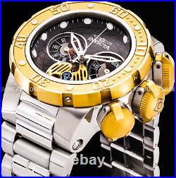 Invicta Men SUBAQUA SEA DRAGON Chronograph POLISHED 18K Gold Silver 52mm Watch