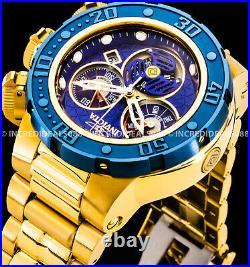 Invicta Men SUBAQUA SEA DRAGON Swiss Chronograph Blue Dial Bezel 18Kt Gold Watch