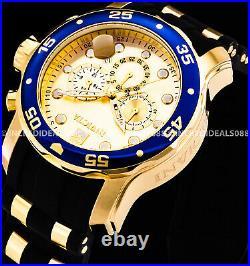 Invicta Men Scuba Pro Diver 18Kt Gold Plate Chronograph Champagne Watch 17881
