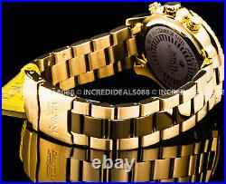 Invicta Men Specialty Chronograph Blue Dial 18Kt Gold Plate Bracelet 45mm Watch