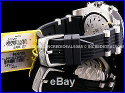 Invicta Men Speedway Viper Gen lll Chronograph Silver Black Dial Strap SS Watch