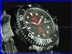 Invicta Men Stealth TripleBlack Grand Diver Power Reserve Automatic Red SS Watch