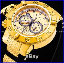 Invicta Men Subaqua Noma III Swiss Chronograph 18Kt Gold Case Black Strap Watch