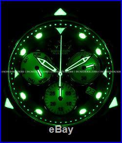 Invicta Men Subaqua Poseidon Z60 Ronda Chronograph MOP Dial Watch Slot Box 26963