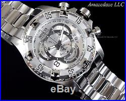 Invicta Men Swiss Chronograph Silver Dial Stainless Steel Excursion Touring Watc