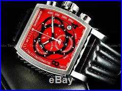 Invicta Men Tonneau S1 Rally Viking Red Swiss Made ETA Chrono Strap SS Watch