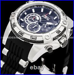 Invicta Men VIPER SPEEDWAY HYBRID Chronograph Silver Black Dial COMBAT SS Watch