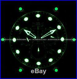 Invicta Men Venom Gen II Chronograph 18k Gold Case Black Dial Strap Watch 26244