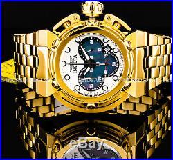 Invicta Men X Wing Coalition Forces Chronograph MOP Dial 18K Gold Bracelet Watch