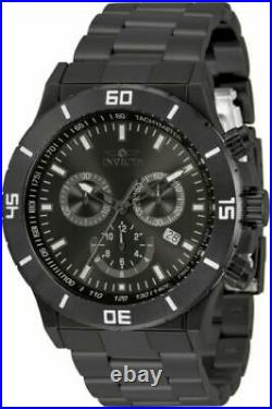 Invicta Men's 0393 Specialty Quartz Chronograph Gunmetal Dial Watch