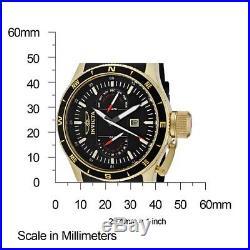 Invicta Men's 1747 Aviator Flight Black Dial Black Polyurethane Watch