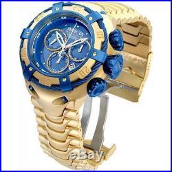 Invicta Men's 21347 Reserve Thunderbolt 52mm Gold Plated Swiss Blue Chrono Watch