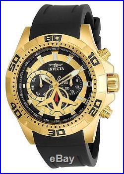 Invicta Men's 21738 Aviator Quartz Multifunction Black Dial Watch