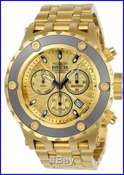 Invicta Men's 23922 Subaqua 52mm Chronograph Gold-Tone Dial Gold-Tone Watch