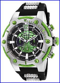 Invicta Men's 25985 Marvel Hulk Black Steel Polyurethane Steel Watch