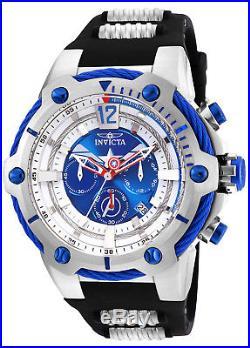 Invicta Men's 25988 Marvel Captain America Black Silver Polyurethane Steel Watch