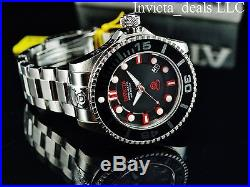 Invicta Men's 300M Grand Diver II Automatic 3D Black Dial Red Accents SS Watch