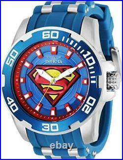 Invicta Men's 32479 DC Comics Superman Quartz 3 Hand Blue, Red, Yellow Watch