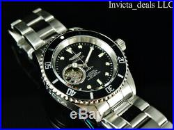 Invicta Men's 40mm Pro Diver AUTOMATIC NH38A OPEN HEART Black Dial Silver Watch
