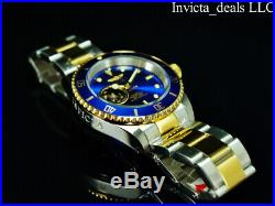Invicta Men's 40mm Pro Diver AUTOMATIC NH38A OPEN HEART Blue Dial 2Tone SS Watch