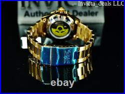 Invicta Men's 40mm Pro Diver SUBMARINER AUTOMATIC BLUE DIAL Gold Tone SS Watch