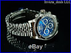 Invicta Men's 40mm SPEEDWAY DRAGSTER Chrono Blue Dial Silver Tone SS 200M Watch