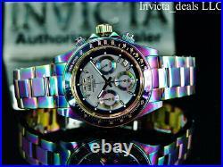Invicta Men's 40mm SPEEDWAY DRAGSTER Chrono IRIDESCENT Platinum MOP Dial Watch